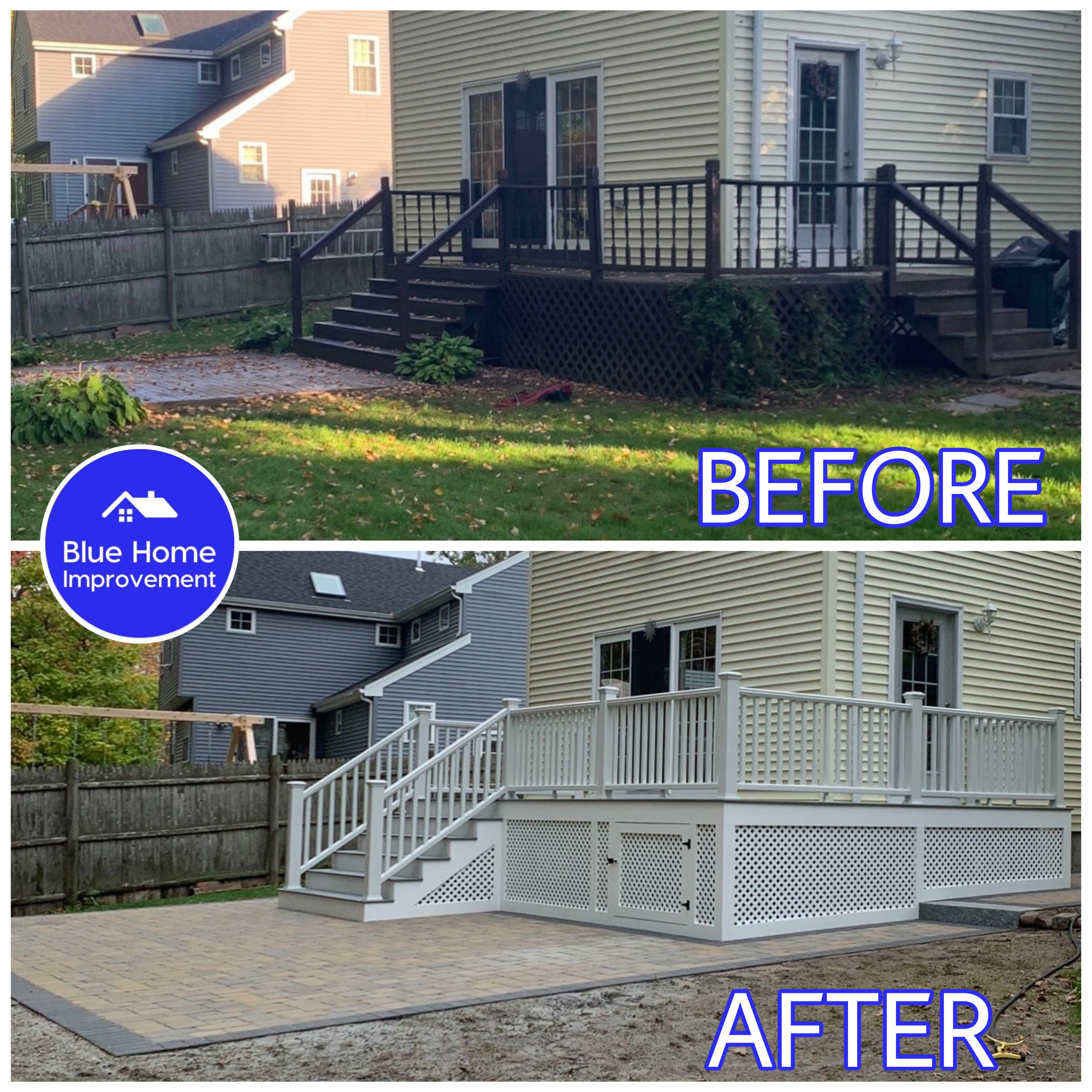 Beautiful New Deck Remodel and Patio Installation in Natick, MA